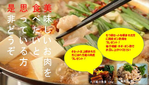 博多もつ鍋 〆のチャンポン付きセット
